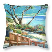 Carmel Lagoon View Throw Pillow
