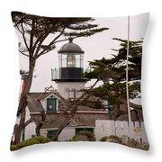 Carmel Light Station Throw Pillow