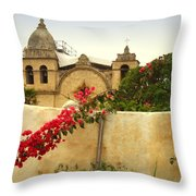 Carmel Mission Getting A Facelift Throw Pillow