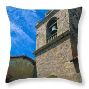 Carmel Mission In Sun Throw Pillow