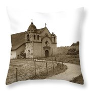 Carmel Mission Monterey Co. California Circa 1890 Throw Pillow
