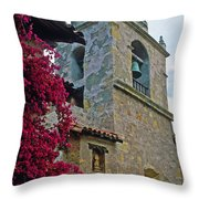 Carmel Mission Tower Throw Pillow