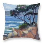 Carmel View From Point Lobos Throw Pillow