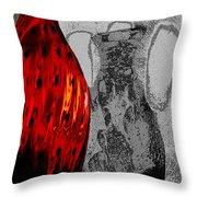 Carmellas Red Vase 2 Throw Pillow