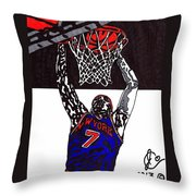 Carmelo Anthony Throw Pillow