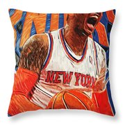 Carmelo Anthony Throw Pillow by Taylan Apukovska
