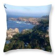 Carmel's Coastline Throw Pillow