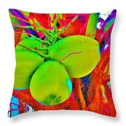 Carmen's Coconuts Throw Pillow