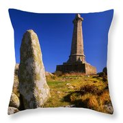 Carn Brea Memorial Throw Pillow