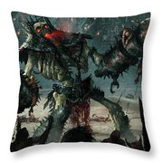 Carnage Gladiator Throw Pillow