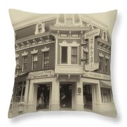 Carnation Cafe Main Street Disneyland Heirloom Throw Pillow