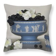 Carnation Grape Togetherness Throw Pillow by Good Taste Art