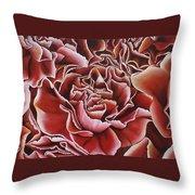 Carnations Throw Pillow