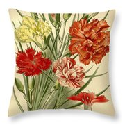 Carnations Throw Pillow by Philip Ralley