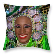 Carnaval Beauty Throw Pillow