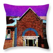 Carnegie Library North Platte Throw Pillow