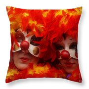 Carnevale Di Venezia 100 Throw Pillow