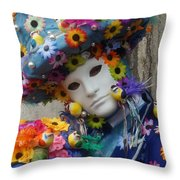 Carnevale Di Venezia 96 Throw Pillow