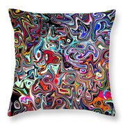 Carnival An Abstract Modern Contemporary Digital Art Throw Pillow by Annie Zeno