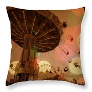 Carnival Circles Go Round Throw Pillow