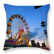 Carnival Colours Throw Pillow
