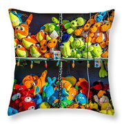 Carnival Critters Throw Pillow