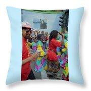 Carnival Dancing Throw Pillow