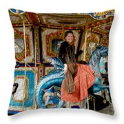 Carnival Day In Color Throw Pillow