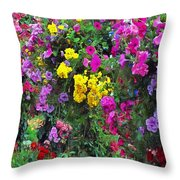 Carnival Flowers Throw Pillow
