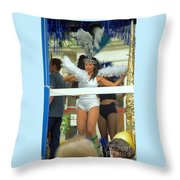 Carnival Girl In Costume Social Occcasion Throw Pillow