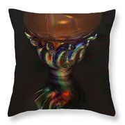 Carnival Glass Bulb Sprouter  Throw Pillow
