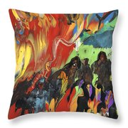 Carnival In Spain Throw Pillow