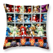 Carnival Prizes Throw Pillow by John Greim