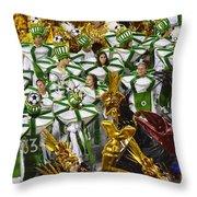 Carnival Rio De Janeiro 14 Throw Pillow