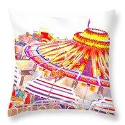 Carnival Sombrero Throw Pillow