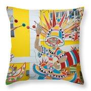 Carnival Time St. Thomas Usvi Throw Pillow