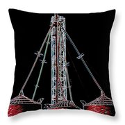 Carnival Towers Throw Pillow