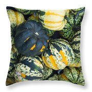 Carnival Winter Squash At The Market Throw Pillow
