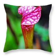 Carnivorous Plant I Throw Pillow