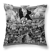 Carny Worker Monchrome Throw Pillow