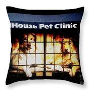 Carol House Quick Fix Pet Clinic Throw Pillow