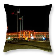 Carol Of Lights And Bell Towers Throw Pillow