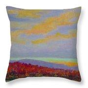 Carolina Autumn Sunset Throw Pillow