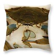 Carolina Blue Crab Throw Pillow