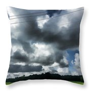 Carolina Clouds Throw Pillow