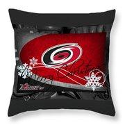 Carolina Hurricanes Christmas Throw Pillow