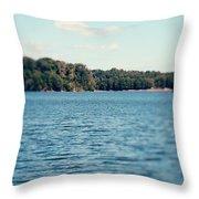 Carolina - Lake Norman Landscape Throw Pillow