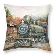 Carolina Morning Train Throw Pillow