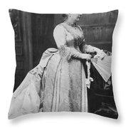 Caroline Lavinia Harrison (1832-1892) Throw Pillow
