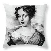 Caroline Unger-sabatier (1803-1877) Throw Pillow
